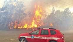 Pour combattre les flammes au côté des pompiers du Mont-Dore et de ceux de la Sécurité civile, ceux de Païta, de Nouméa et de Dumbéa sont encore venus en renfort. Ce qui a permis d'éviter le pire, hier.