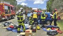 Un grave accident entraîne la fermeture de la RT1