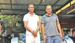 Stéphane (à g.) et son frère Jean-Marie sont des pêcheurs d'expérimentés. Ils savent que la mer est un endroit dangereux.