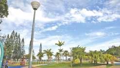 Des luminaires pour le parc  de jeux et son parking