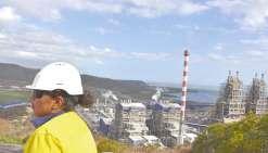 KNS est une coentreprise appartenant à la Société minière du Sud Pacifique (51 %)  et à Glencore (49 %). Les deux fours pourraient tourner à pleine puissance en 2020.