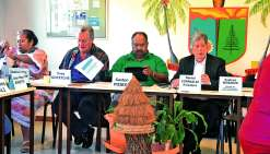Les membres du Cese ont tenu leur séance plénière décentralisée à la mairie de Poindimié.Photo C.O.