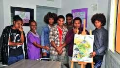 Les lycéens ont réalisé eux-mêmes les affiches de leur exposition  sur la santé.Photo C.O.