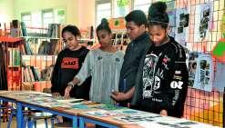 Les élèves ont pu découvrir les productions de leurs camarades. Photo C.O.