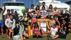 L'équipe Swimmy Japon et l'initiateur de Swimmy Project, Akihide Kurisu, ont fait  le déplacement sur le Caillou.Photos N.B.