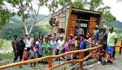 Les observatoires de la tribu de Oui Poin ont été inaugurés mercredi.Photo province Sud