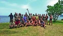 A l'occasion de leur passage, les militaires du Rimap ont vécu avec la population de la tribu. Leur dortoir a même été installé à la maison commune. Quand ils ne réalisaient pas de travaux, les membres de la section du Rimap participaient à des matches de
