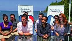 Jean-Gabriel Favreau, cosecrétaire général adjoint des Républicains calédoniens, et Carl N'Guela, responsable de la section jeunesse ont annoncé le lancement du site, et du groupe de travail. Photo E.C.