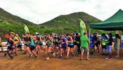 Le ravitaillement, étape indispensable de la course.Photo K.M.