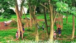 Plusieurs activités sportives de plein air sont proposées aux enfants. Photo K.B.
