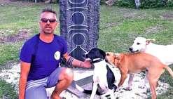 Outre l'éducation des chiens, Olivier Persin souhaite faire de la sensibilisation auprès des scolaires.Photo DR