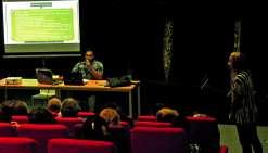 Une cinquantaine de personnes se sont déplacées au centre culturel pour cette conférence animée par Diainon Ruben.