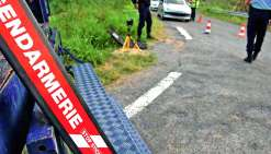 A Boulouparis, les gendarmes ont dû déployer une herse pour stopper le fuyard.Photo LNC