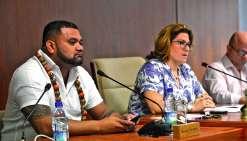 Milakulo Tukumuli, de l'Eveil océanien, est désormais troisième vice-président de la province Sud. photo Thierry Perron