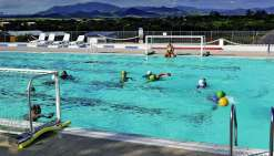 Les lycéens ont pu profiter des installations du centre aquatique.Photo K.B.