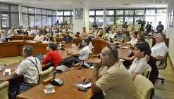C'est en l'auditorium de la province Sud, hier, que la restitution des travaux a été présentée, se clôturant par un débat. Photos Thierry Perron