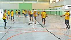 Le collège Louis-Léopold-Djiet ouvre une section sportive badminton à la rentrée prochaine. L'opportunité pour les collégiens de suivre leur scolarité et de s'adonner à leur discipline favorite.Photo archives N.B.
