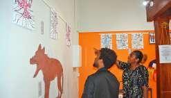 Les enfants ont mis sur papier leur vision du loup. Photo N.B.