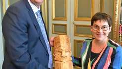 Thierry Santa a, entre autres, été reçu par Annick Girardin,  la ministre des Outre-mer. Photo DR
