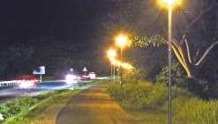 Une piste cyclable mieux éclairée pour un lieu plus sécurisé