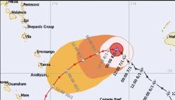 Le cyclone Ula a chahuté l'île d'Anatom