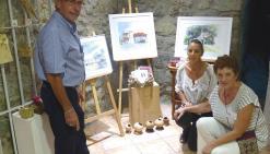 Les artistes échangent au château