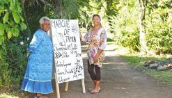 Deux habitantes de La Tamoa ont lancé un marché