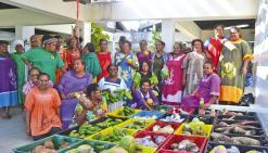 Prêtes à alimenter le Jeudi  du centre-ville à Nouméa