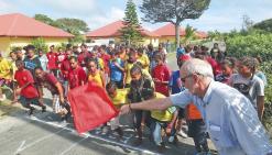 Shéa-Tiaou a accueilli les jeunes coureurs d'Ouvéa
