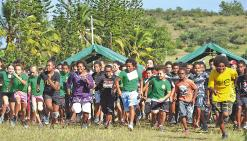 Les scolaires se mesurent sur le champ de foire et aux collines de Pandop