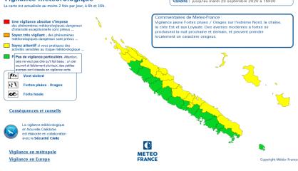 Dix-neuf communes en vigilance jaune aux fortes pluies et aux orages