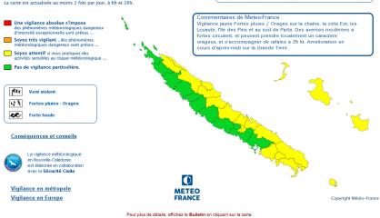 21 communes en vigilance jaune aux fortes pluies