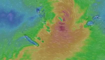 Risque fort de dépression tropicale modérée entre le Vanuatu et Fidji