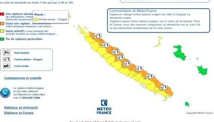 La côte Est placée en vigilance orange fortes pluies
