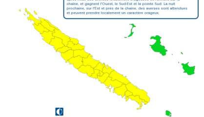 La Grande Terre en vigilance jaune aux fortes pluies