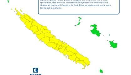 La Grande Terre toujours placée en vigilance jaune aux fortes pluies