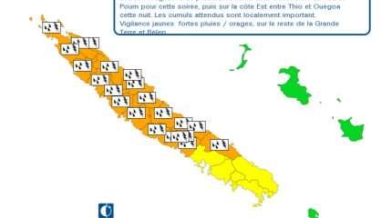 22 communes passent en alerte orange aux fortes pluies et précipitations