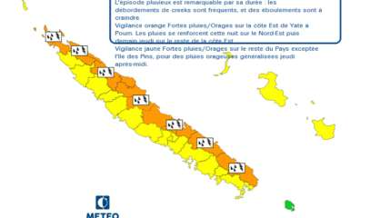 [MàJ] La côte est en vigilance orange «fortes pluies et orages»