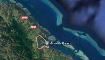 Éboulement sur la RP7 à Pouébo