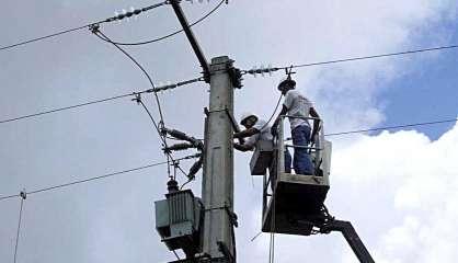 8000 personnes ont étéprivées d'électricité