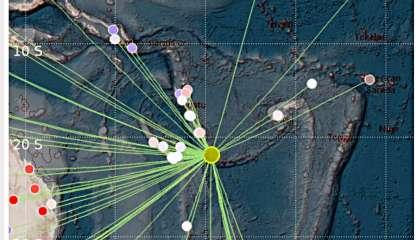 La terre a tremblé ce lundi au sud-est des îles Loyauté