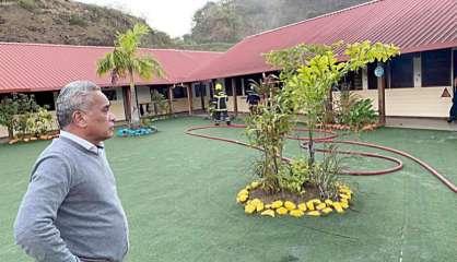 Païta : un feu s'est déclaré dans l'enceinte de l'école primaire Les Scheffleras