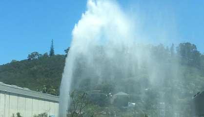 Canalisation percée au PK 4, pas de problème d'approvisionnement en eau à Nouméa