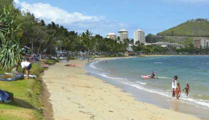 Drapeau rouge et baignade interdite à l'Anse Vata