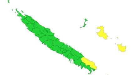 Quatre communes en vigilance jaune fortes pluies/orages
