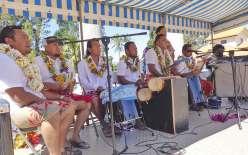 Venus de Païta, comme le groupe du Sacré-Chœur, les musiciens ont mis l'ambiance tout au long de la journée de fête.