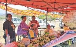 L'association du marché communal Yuanga s'est jointe à la manifestation en tenant exceptionnellement son marché hebdomadaire sur le site de la tribu de Baoui.
