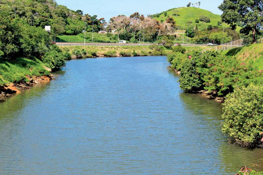 Le cadavre a été retrouvé dans l'eau, entre les échangeurs de Ducos et de Ko We Kara. Crédit photo : S.M.