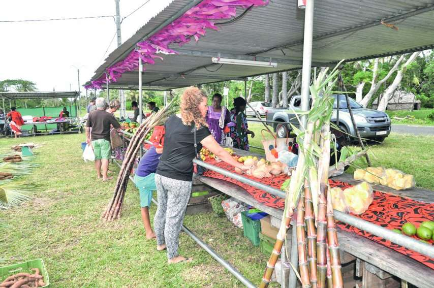 Bien que le marché communal de Tadine ait été déplacé sur Wakoné pour l'occasion, seuls quelques producteurs ont fait le  déplacement pour participer à la fête organisée par l'un d'entre eux.