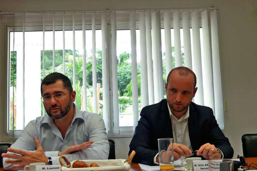 Laurent Cabrera et Ulric de la Borie de la Batut, secrétaire général et secrétaire général adjoint du haussariat. Photo Ph.F.